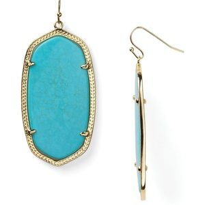 {Kendra Scott} Turquoise Danielle Drop Earrings